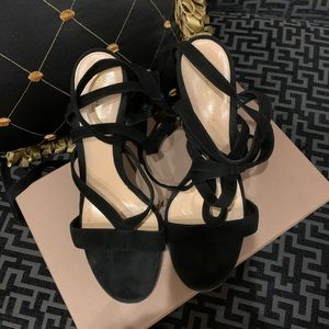Gianvito Rossi Janis High black suede sandals